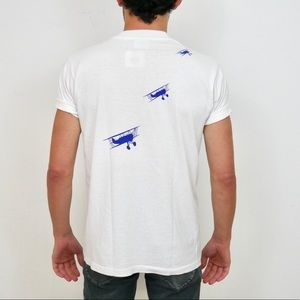 Vintage Shirts - Vintage 1992 Airfest White Graphic Tee Medium